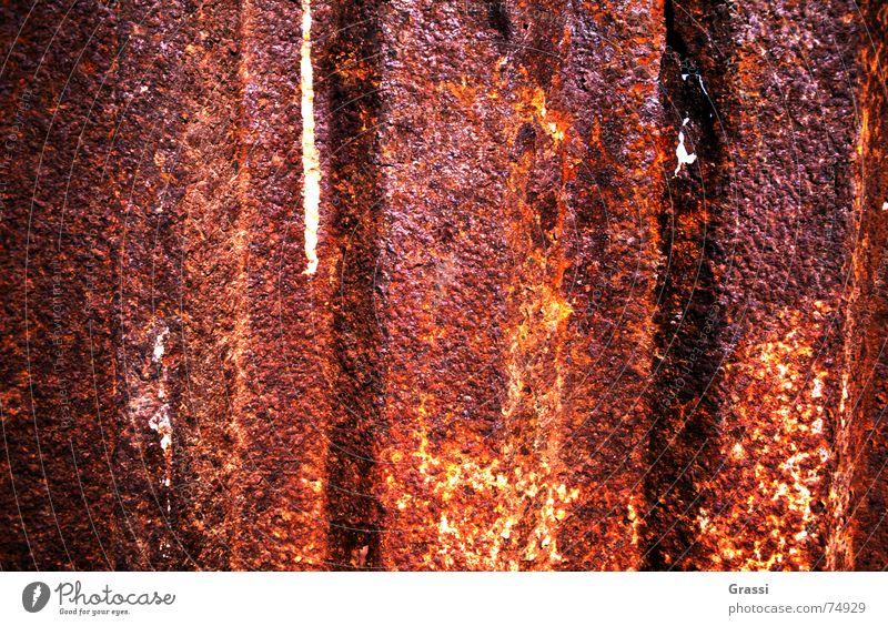 Red Metal Derelict Rust Scrap metal Wreck Surface coating Consumed