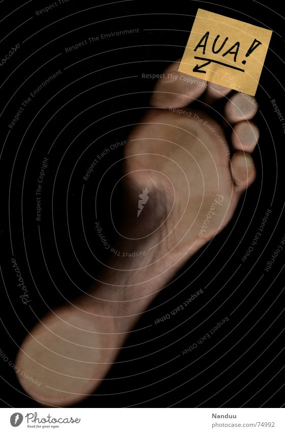 Human being Yellow Feet Skin Characters Paper Letters (alphabet) Pain Footprint Bubble Piece of paper Barefoot Toes Feeble Wound Parts of body