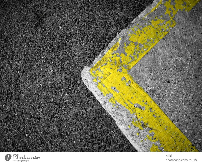 Yellow Street Gray Background picture Signs and labeling Corner Simple Asphalt Left Flat Symbols and metaphors