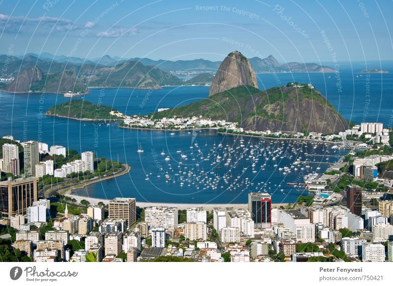 Nature Blue City Beautiful Water Ocean Landscape Calm Horizon Bay Landmark Tourist Attraction Americas South America Brazil Rio de Janeiro