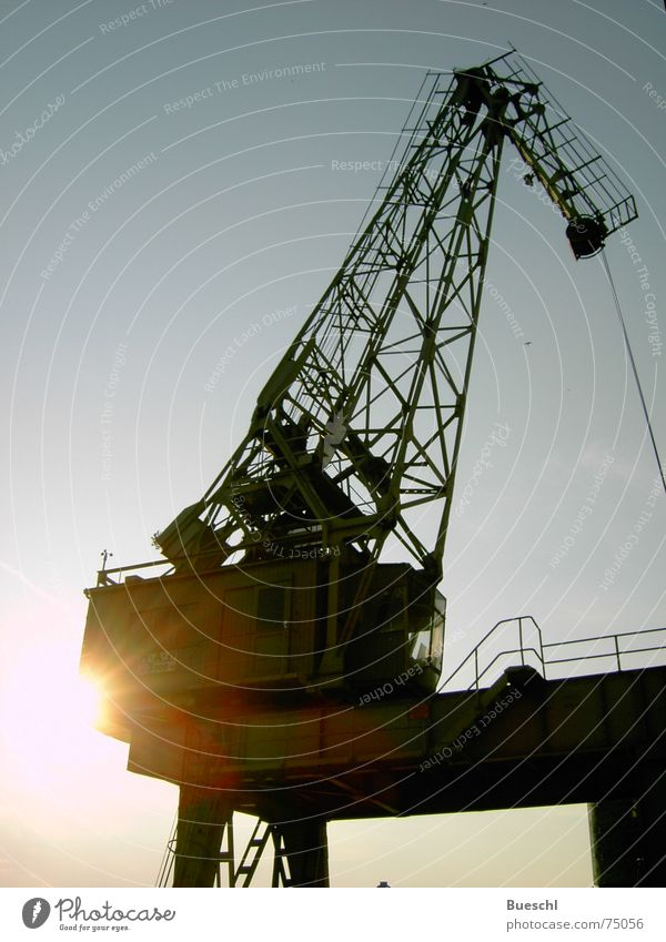 Industrial Photography Harbour Crane Dusk Archaic Shut down