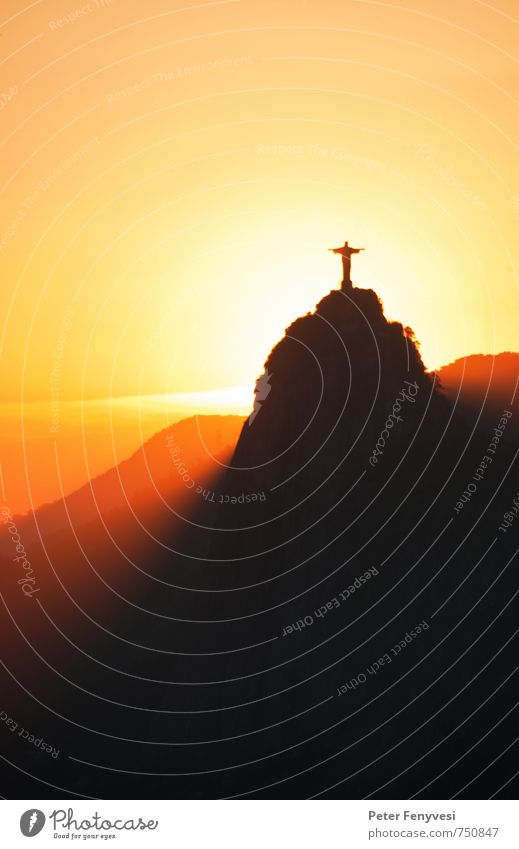 Rio de Janeiro 3 Vacation & Travel Tourism Far-off places City trip Sun Mountain Nature Landscape Sky Sunrise Sunset Peak Brazil South America Americas Town