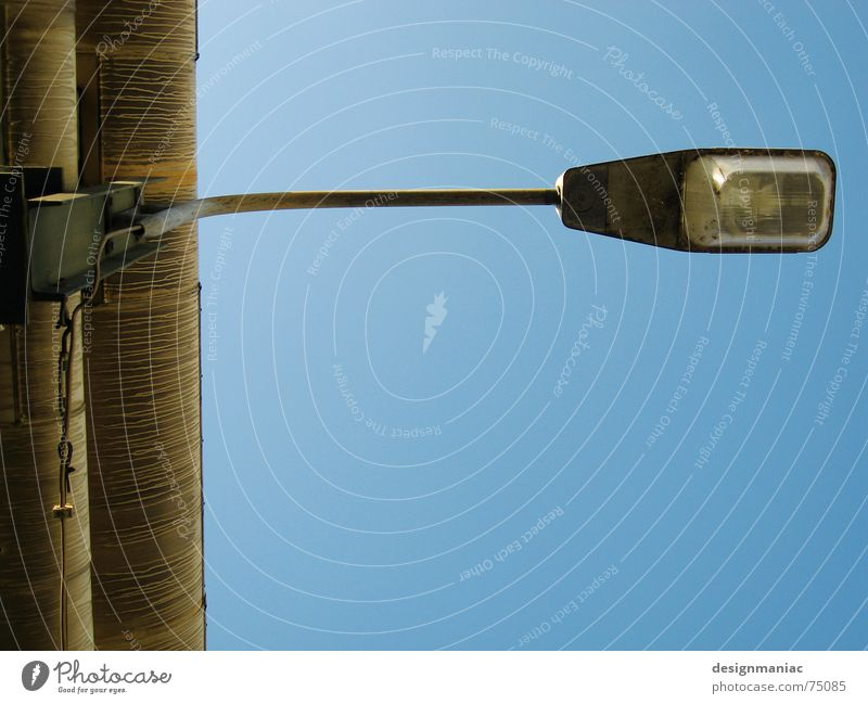 Old Sky Blue Loneliness Lamp Sadness Line Bright Feasts & Celebrations Germany Empty Europe Industry Grief Bridge Electricity