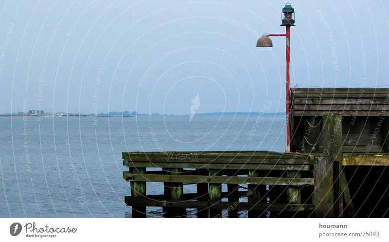 Nice View Obstinate Lamp Lemvig Brugge Loneliness Limfjord Harbour Ocean lonely stubborn water Fjord horizon Denmark signal lamp land