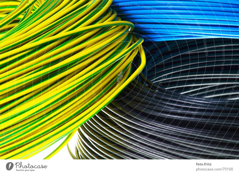 Green Blue Black Loneliness Yellow Power Background picture Arrangement Electricity Cable Multicoloured Wire Plaster Coil Transmission lines Household