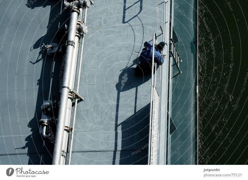 ship painter Watercraft Bird's-eye view River Painter Rhine Shadow Repair
