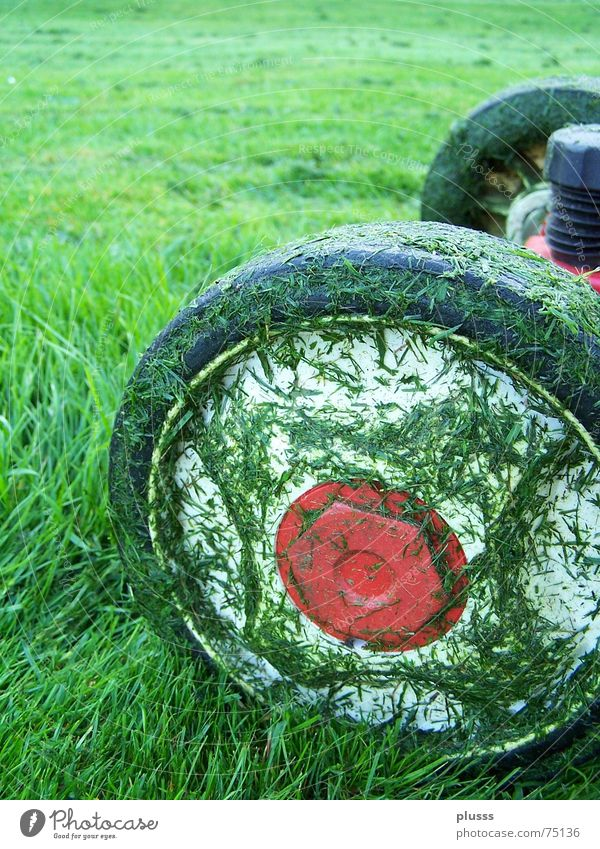 Green Red Work and employment Meadow Grass Dirty Wet Tall Driving Lawn Wheel Tire Blade of grass Engines Juicy Cut