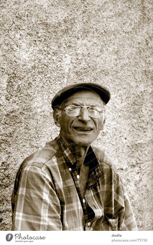Senior citizen Wait Sit Eyeglasses Boredom Grandfather Greece Goof off