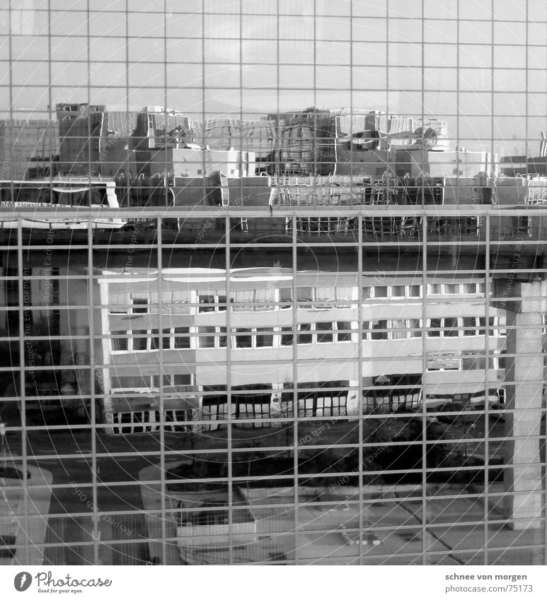 illusory False Virtual Reflection Black Mirror Building House (Residential Structure) Really Window Discern Things Gray Airport Frankfurt Black & white photo