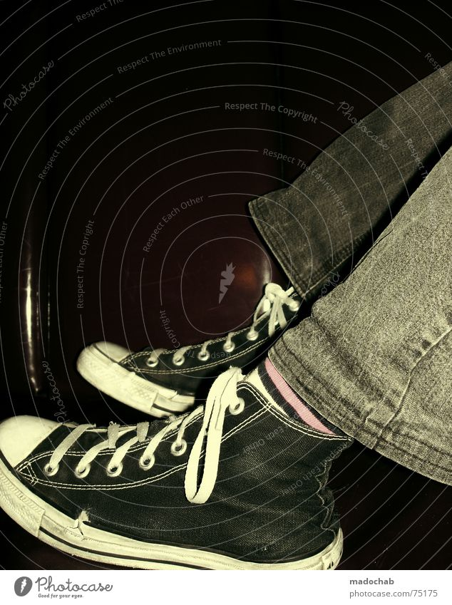 Human being Relaxation Fashion Footwear Pink Lie Lifestyle Retro Jeans Bar Club Hip & trendy Sneakers Chucks Alternative Weekend