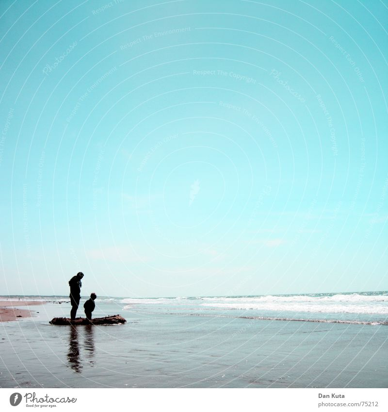 Child Water Sky Sun Ocean Summer Joy Beach Love Loneliness Far-off places Boy (child) Family & Relations Sand Waves Coast