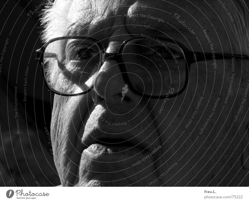 Human being Man Old Face Senior citizen Eyes Glass Force Eyeglasses Observe Concentrate Grandfather Watchfulness Skeptical Intensive Fix