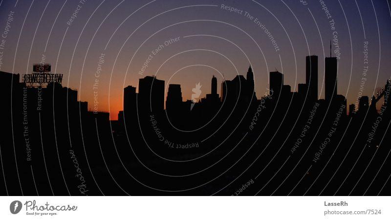 Skyline New York City Manhattan Brooklyn Evening sun North America