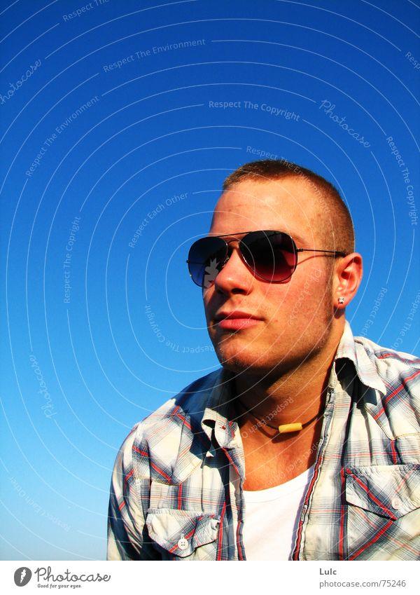 B Tuff ! Sky Summer Style tough Guy young Dude man sunglasses atmosphere T-shirt class Cool (slang) casual