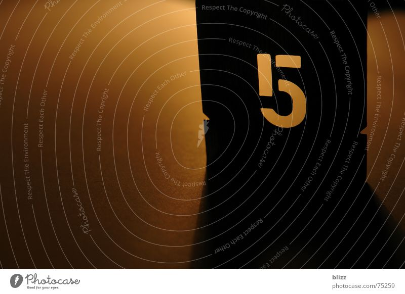 """5"" Digits and numbers Back-light Warm light Still Life Progress Moody Harmonious Shadow five transition harmonic atmospheric Typography"