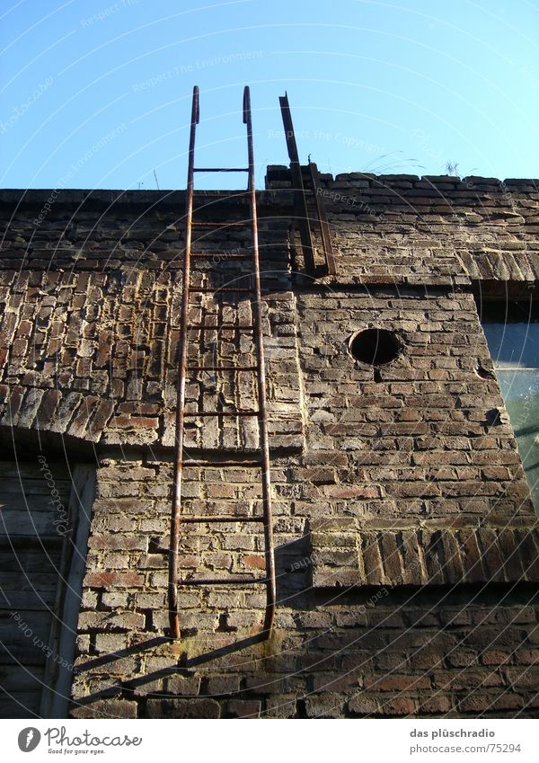 Sky Window Stone Wall (barrier) Door Hollow Ladder