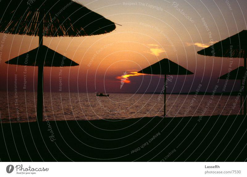 Sunset Beach Greece Fisherman Watercraft