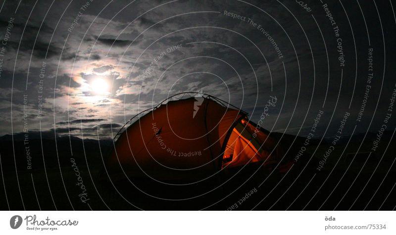 Clouds Lamp Dark Moody Sleep India Camping Tent Moon Full  moon Ladakh