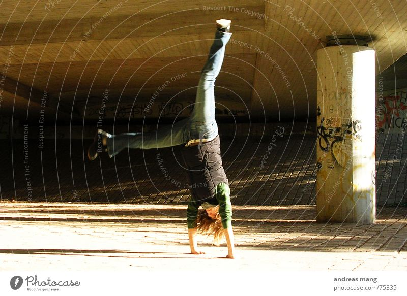Hand Joy Freedom Hair and hairstyles Legs Action Handstand