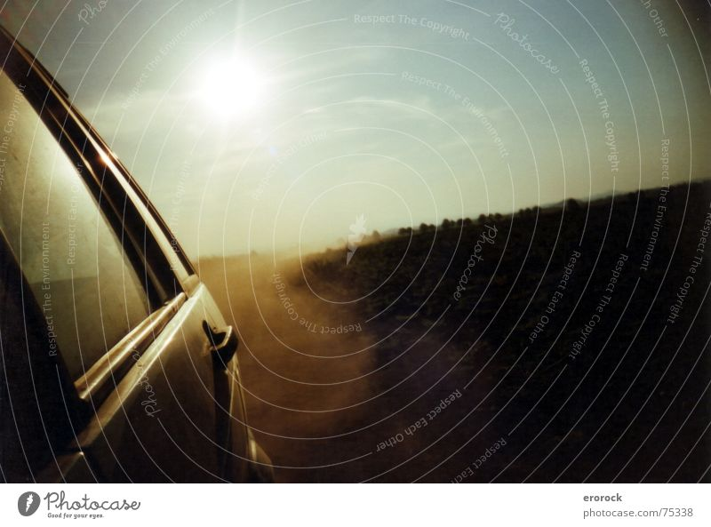 Summer Landscape Field Horizon Dust Drought Vest Lomography