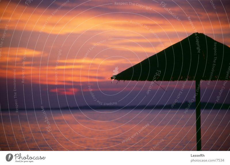 Sunset 4029 (Version 392) Greece Beach Sunshade Twilight Kitsch