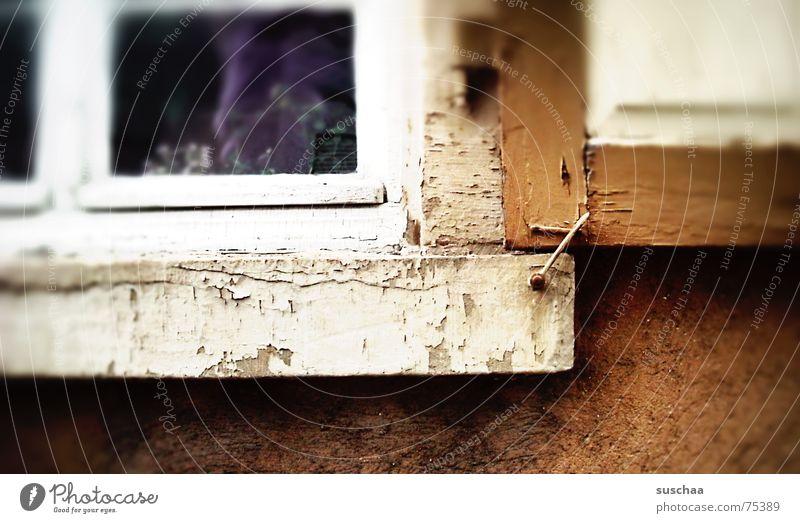 brownwithbeigeandinticklilac Brown Beige White Violet Dark Firm Window board Shutter Facade Wood Splinter glass Feather