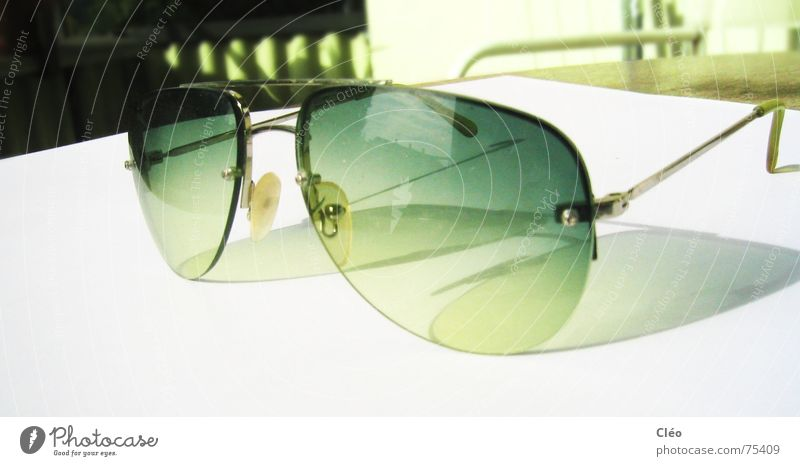 Sun Green Bright Glass Sunglasses Eyeglasses
