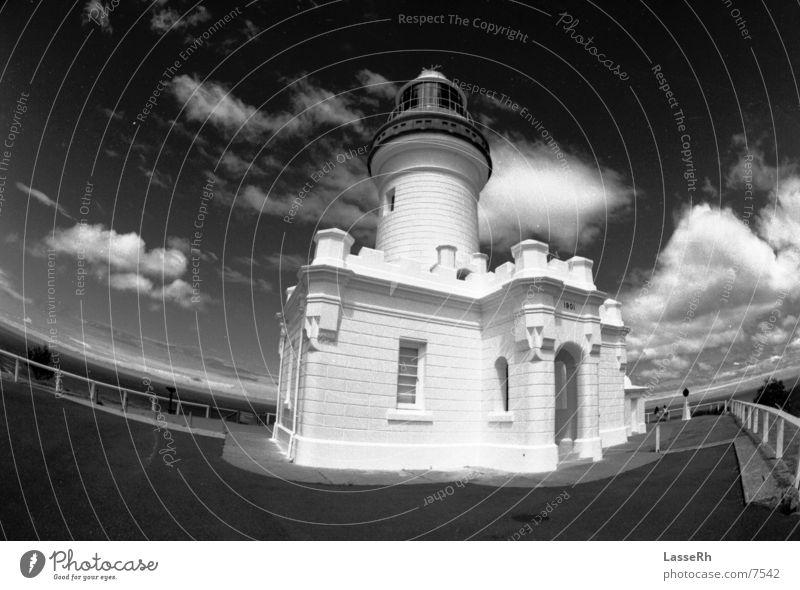 Byron Lighthouse Australia Fisheye bw Black & white photo