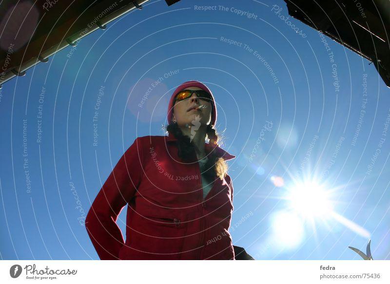 Sky Sun Winter Mountain Cool (slang) Break Hut Sunglasses