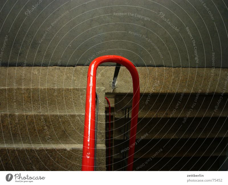 Red Stairs Upward Handrail Career Downward Go up Staircase (Hallway) Insolvency Descent Landing Granite