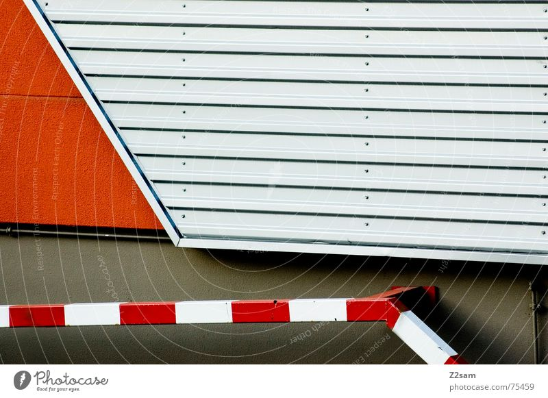 abstract geometry II Abstract Geometry Red Wall (building) Tin Pattern lines Line Orange Signs and labeling Metal Pole