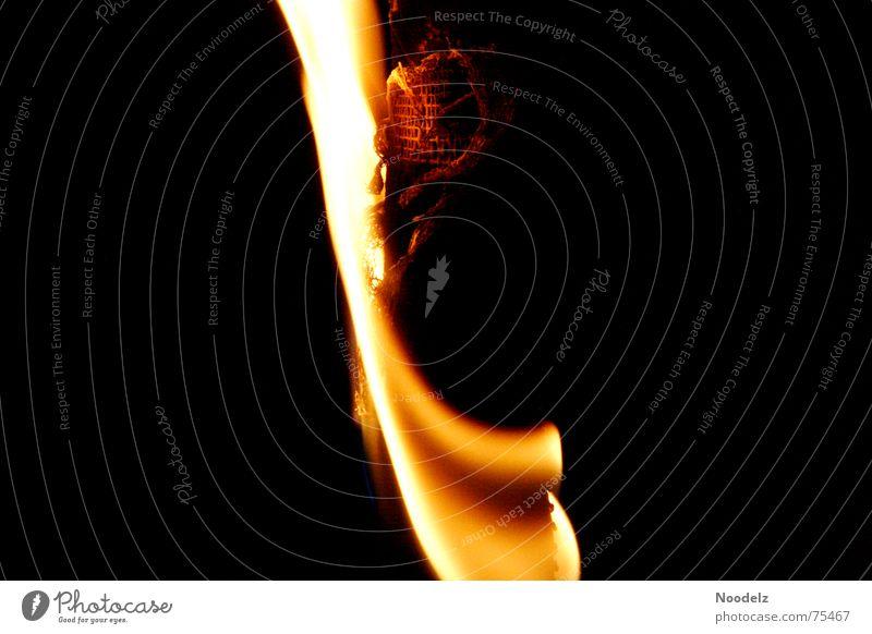 Black Yellow Blaze Hot Flame Glow Torch