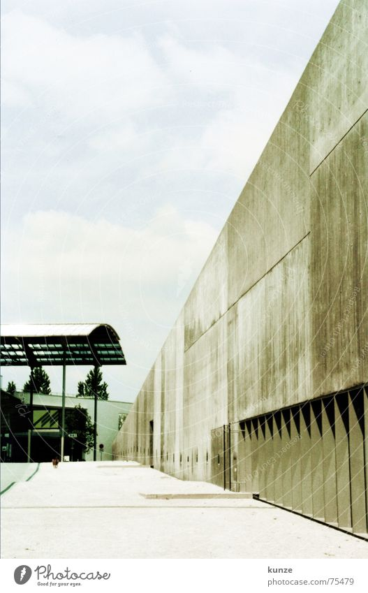 Sky Wall (building) Dog Wall (barrier) Architecture Concrete Floor covering Scan