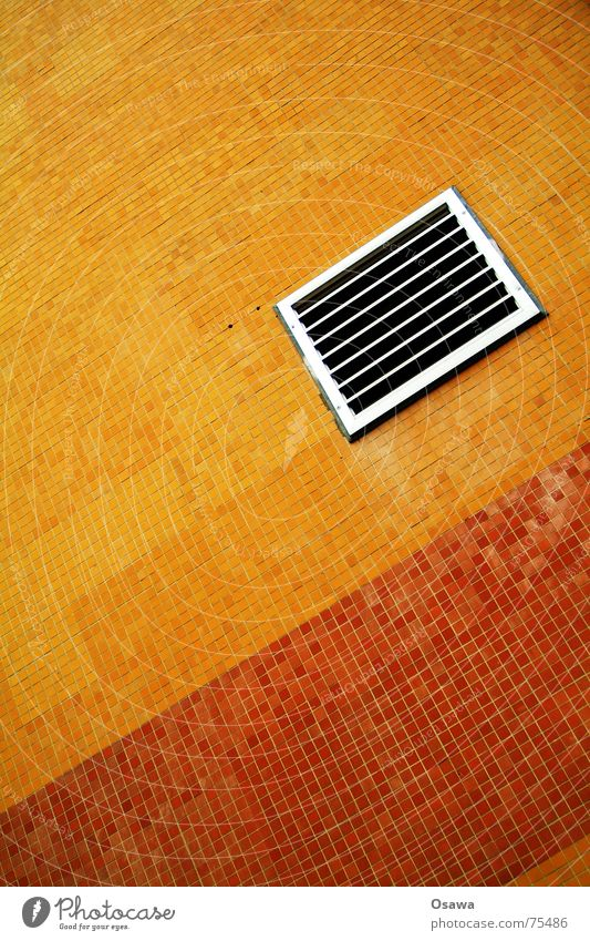 Red Orange Tile Grating Seam Pottery Ventilation Air conditioning