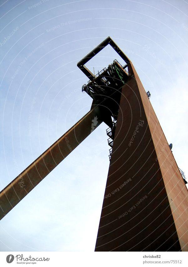Sky Brown Tower Rust Iron Mining Colossus Mine Mine tower