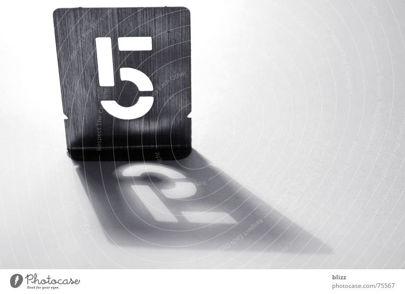 """52"" Digits and numbers Stencil Tin Light Reflection Shadow Typography"