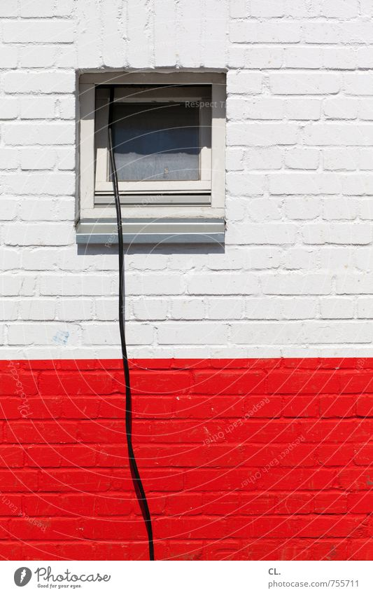 liaison House (Residential Structure) Building Wall (barrier) Wall (building) Window Cable Brick Red Black White Connection long cable Construction site