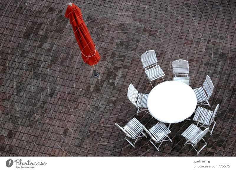 Loneliness Autumn Rain Empty Chair Sunshade Goodbye