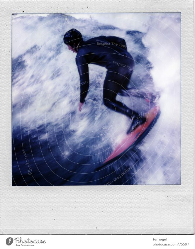 Sports Polaroid Film Munich The Englischer Garten Surfer Surfboard Eisbach