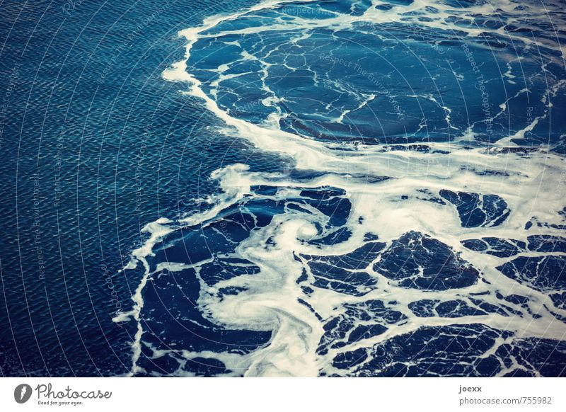 restlessness Water Fresh Blue White Chaos Whirlpool Foam Round Colour photo Exterior shot Pattern Deserted Day Contrast