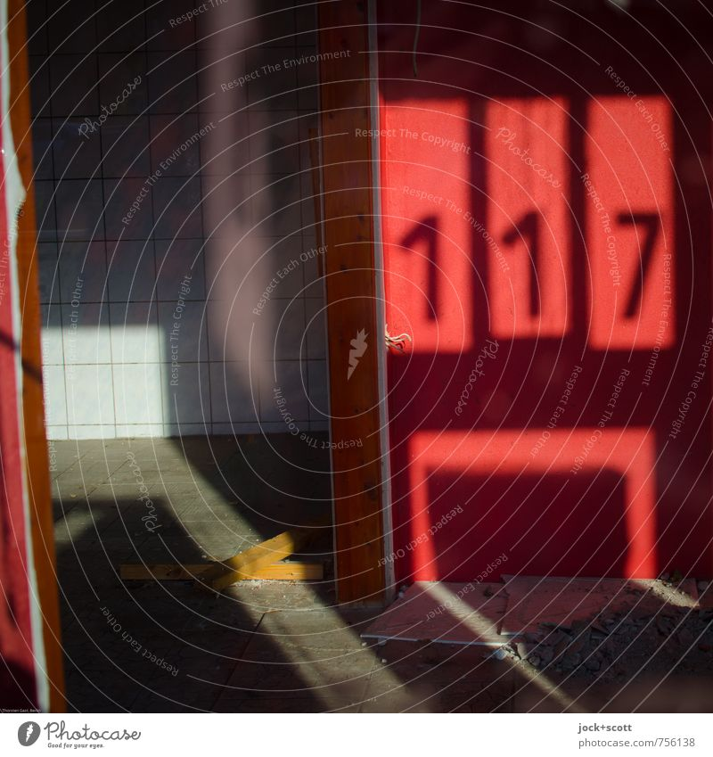 117 Summer Red Far-off places Warmth Wall (building) Wall (barrier) Time Glass Free Beautiful weather Change Digits and numbers Fear of the future End Tile