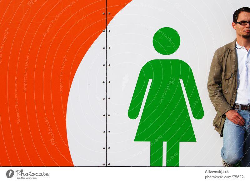 My girl and me (XL version) Woman Man Bowel movement Stick figure Toilet Exterior shot Stand Signage jack Wait Couple Placeholder toilet symbol cottage