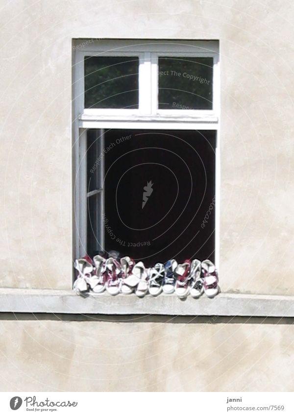 shoes in window Footwear Window Calm Architecture