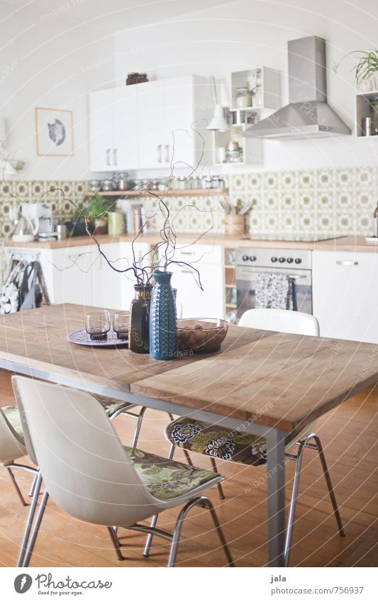 Beautiful Interior design Natural Bright Flat (apartment) Living or residing Decoration Table Friendliness Kitchen Chair Furniture