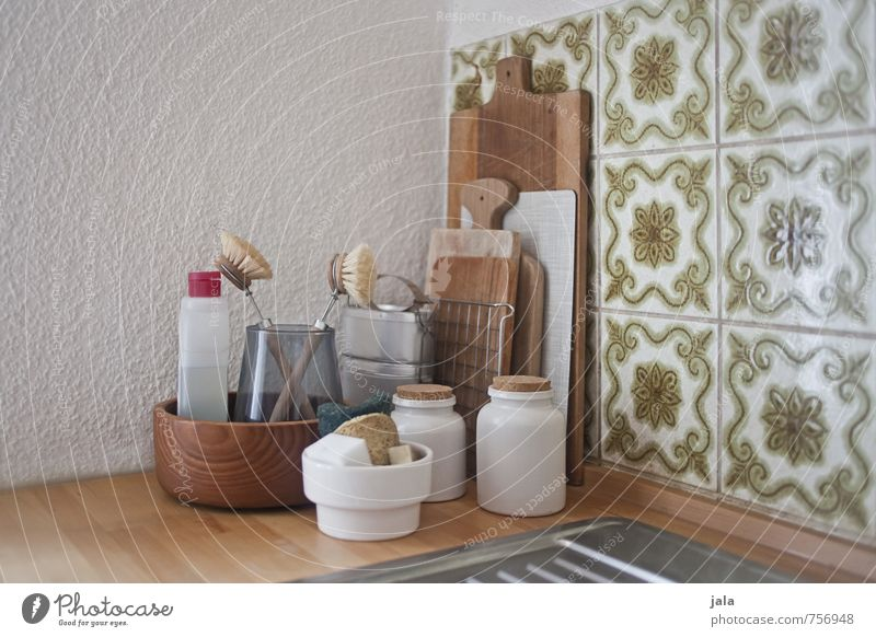 kitchen corner Living or residing Flat (apartment) Interior design Decoration Kitchen Chopping board Bowl Containers and vessels Detergent Floor cloth Rack