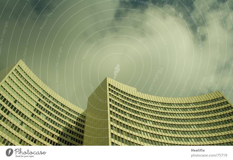 Sky City Clouds House (Residential Structure) Window Business Line Work and employment High-rise Story Curved