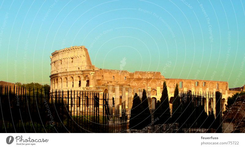 forever! Rome Italy Manmade structures Ruin Monument Tourist Tourist Attraction Work of art Beautiful colluseum Old Gladiator forum romanica Sky Contrast