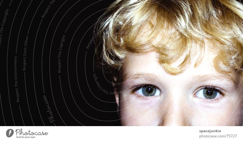The boy with the golden hair Child Toddler Detail Boy (child) Face Eyes Looking Schoolchild Hair and hairstyles
