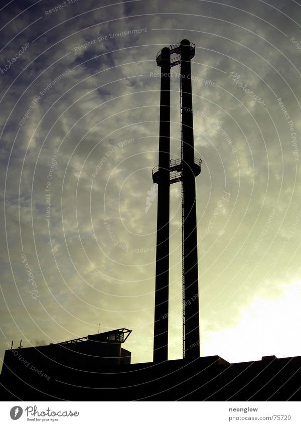 industrial shear cut Clouds Dark Industrial Photography Sky Chimney Dirty Production Sun