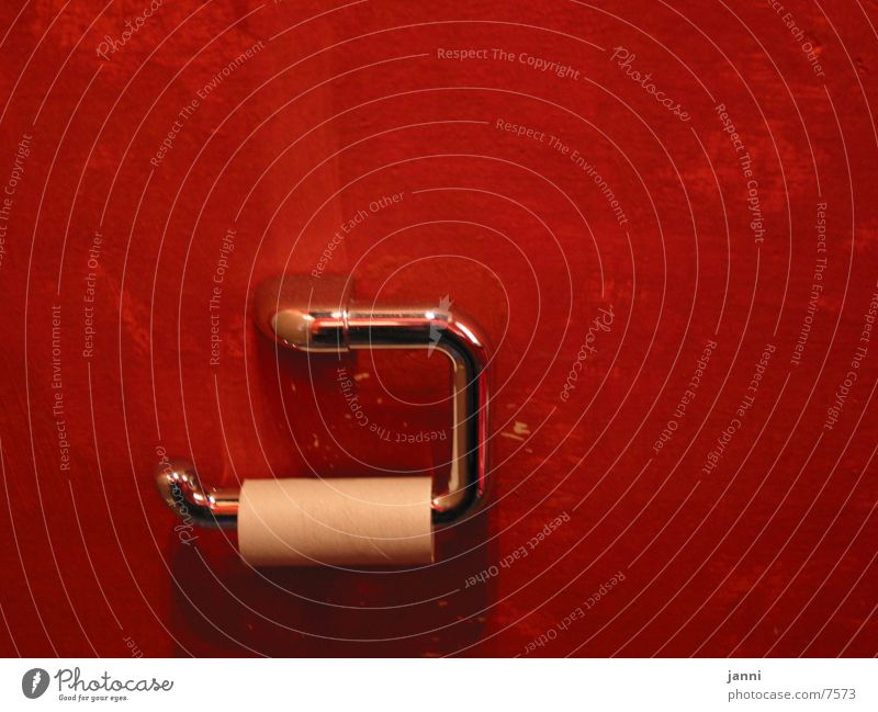 Red Empty Toilet Coil Photographic technology